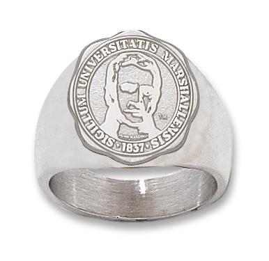 Sterling Silver Marshall University Seal Ring