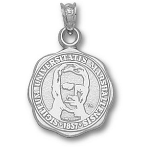 Sterling Silver 5/8in Marshall University Seal Pendant
