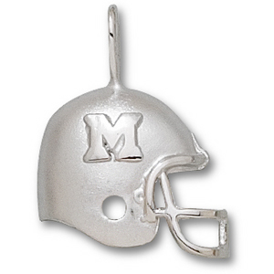 Marshall Thundering Herd 3/4in Sterling Silver Helmet