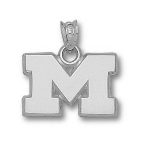 Sterling Silver 1/2in Marshall University M Pendant