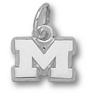Marshall Thundering Herd 1/4in Sterling Silver M Pendant