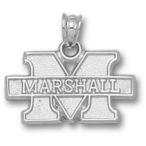 Sterling Silver 7/16in Marshall University New M Pendant