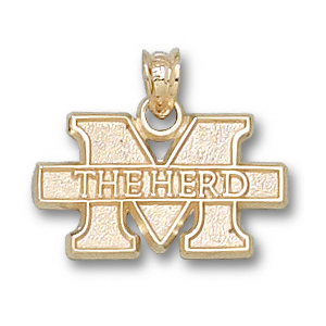 14kt Yellow Gold 7/16in Marshall M The Herd Pendant