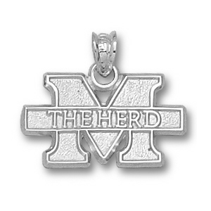 Marshall 1/4in Sterling Silver M The Herd Pendant