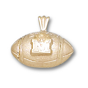 Marshall 7/16in 14k Football Pendant