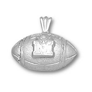 Marshall 7/16in Sterling Silver Football Pendant