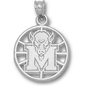 Marshall 5/8in Sterling Silver Basketball Pendant