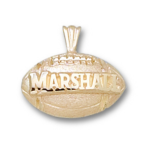 Marshall 7/16in 10k Football Pendant