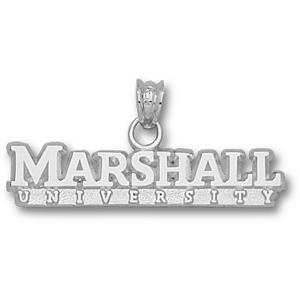 Marshall 1/4in Sterling Silver Wordmark Pendant