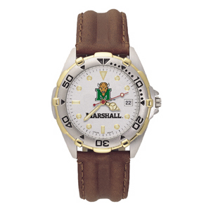 Marshall Thundering Herd Mens All Star Leather Watch