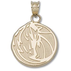 10kt Yellow Gold 5/8in Dallas Mavericks Horse Pendant