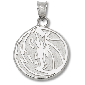 Sterling Silver 5/8in Dallas Mavericks Horse Pendant