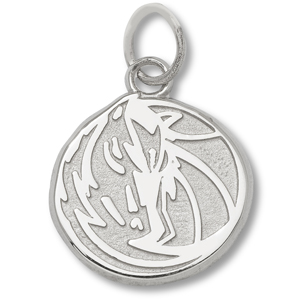 Sterling Silver 3/8in Dallas Mavericks Horse Pendant