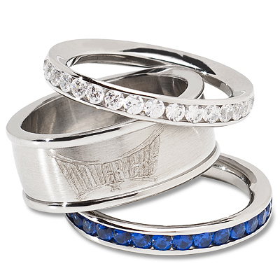 Dallas Mavericks Crystal Stacked Ring Set