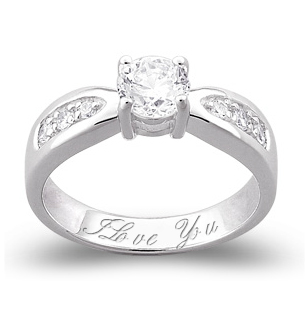 Love's Focus Sterling Silver Promise Ring