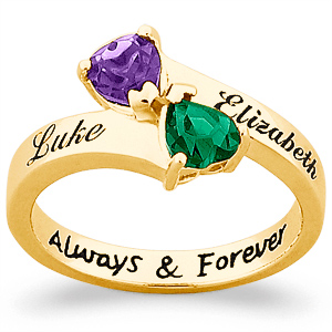 Always and Forever 18kt Gold Over Sterling Silver Ring