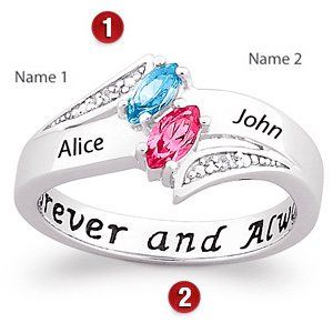 Love's Majesty Sterling Silver Promise Ring
