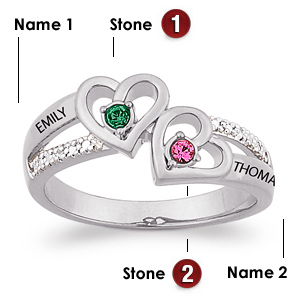 Sterling Silver Hearts Ablaze Promise Ring