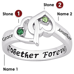 Sterling Silver Together Forever Promise Ring