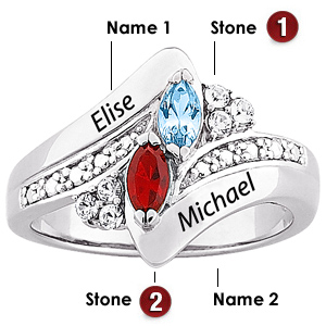 Regal Marquise Sterling Silver Promise Ring