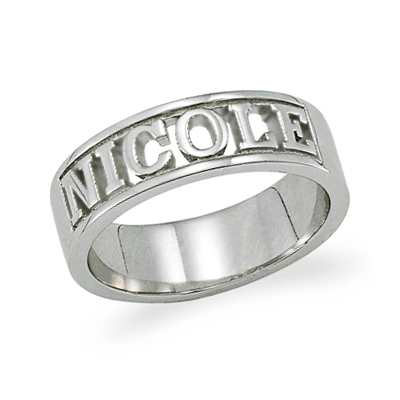 sterling silver rings with names silver rings