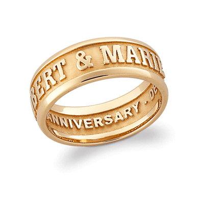 Gold Plated Sterling Silver Gallant Ring