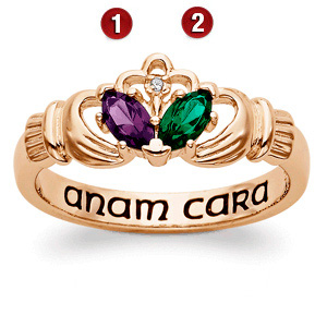 18kt Gold Over Sterling Silver Claddagh Promise Ring