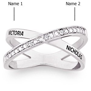 Crossover Sterling Silver Promise Ring
