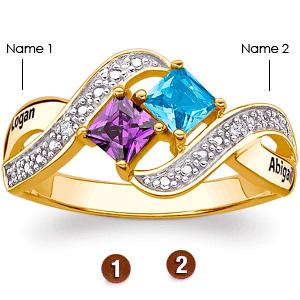 Lover's Romp 14kt Gold Over Sterling Silver Promise Ring