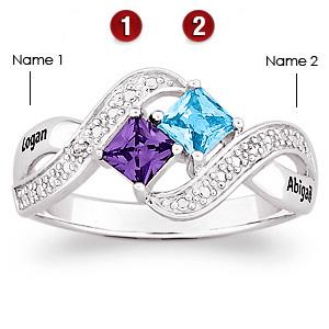 Lover's Romp Sterling Silver Promise Ring
