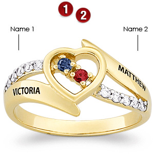 Cross My Heart 14kt Gold Over Sterling Silver Promise Ring