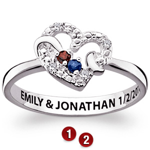 Infatuation Sterling Silver Promise Ring
