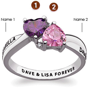 Sterling Silver Heartside Promise Ring