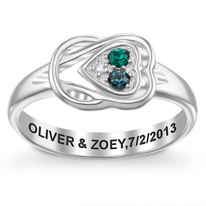 Sterling Silver Knot Heart Promise Ring