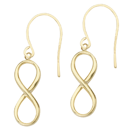 Gold-plated Sterling Silver 3/4in Infinity Earrings