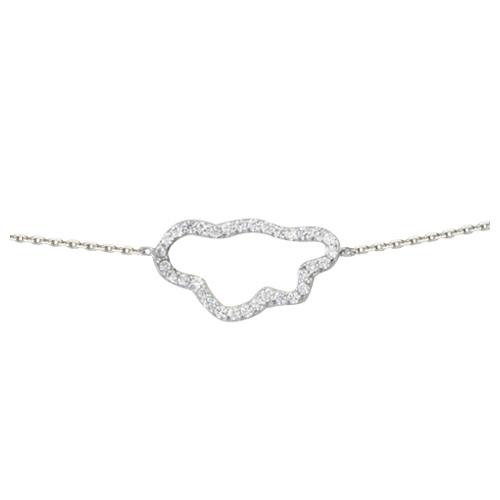 Sterling Silver Cubic Zirconia Cloud Bracelet