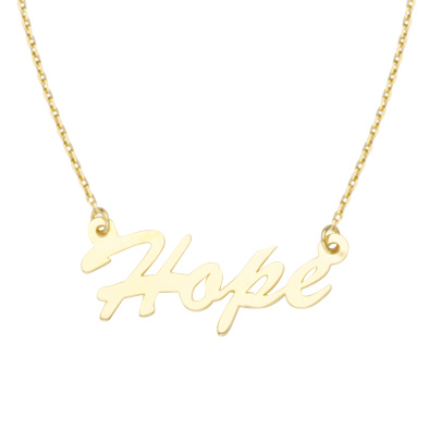 14kt Yellow Gold Hope 18in Necklace
