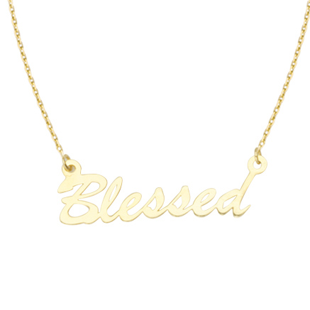 14kt Yellow Gold Blessed 18in Necklace