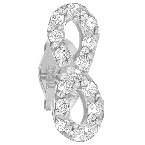 14kt White Gold .10 ct Diamond Single Infinity Stud Earring
