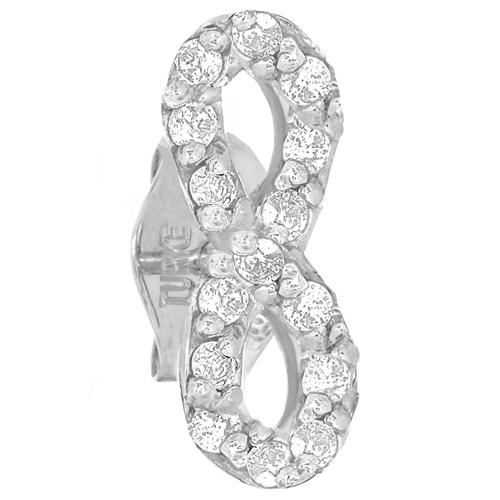 14kt White Gold .10 ct Diamond Single Infinity Stud Earring