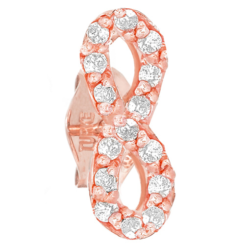 14kt Rose Gold .10 ct Diamond Single Infinity Stud Earring