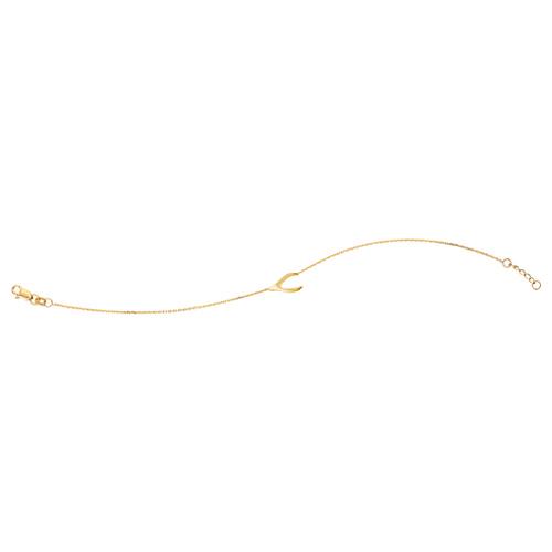 14kt Yellow Gold Wishbone Charm Bracelet