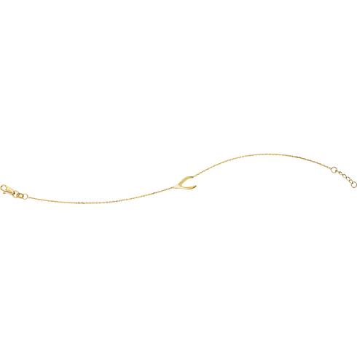 Gold-plated Sterling Silver Wishbone Charm Bracelet