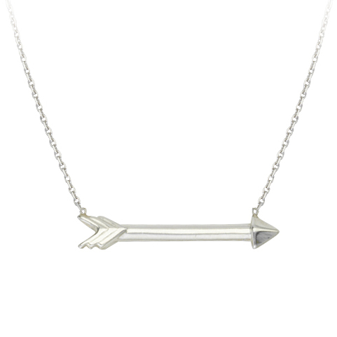 Sterling Silver Arrow Charm 18in Necklace