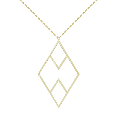 14kt Yellow Gold Haze Geometric 18in Necklace