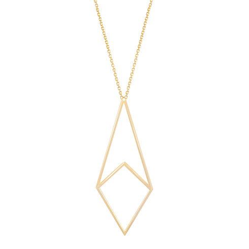 14kt Yellow Gold Harper Geometric 18in Necklace