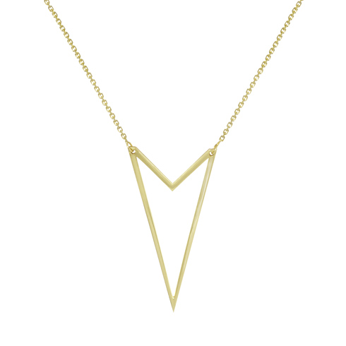 14kt Yellow Gold Brooklyn Geometric 18in Necklace