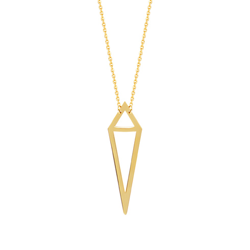 14kt Yellow Gold Bianca Joined Triangles 18in Necklace