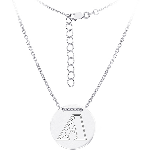 Sterling Silver Arizona Diamondbacks Disc 18in Necklace