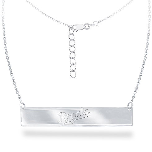 Sterling Silver Kansas City Royals Bar 18in Necklace
